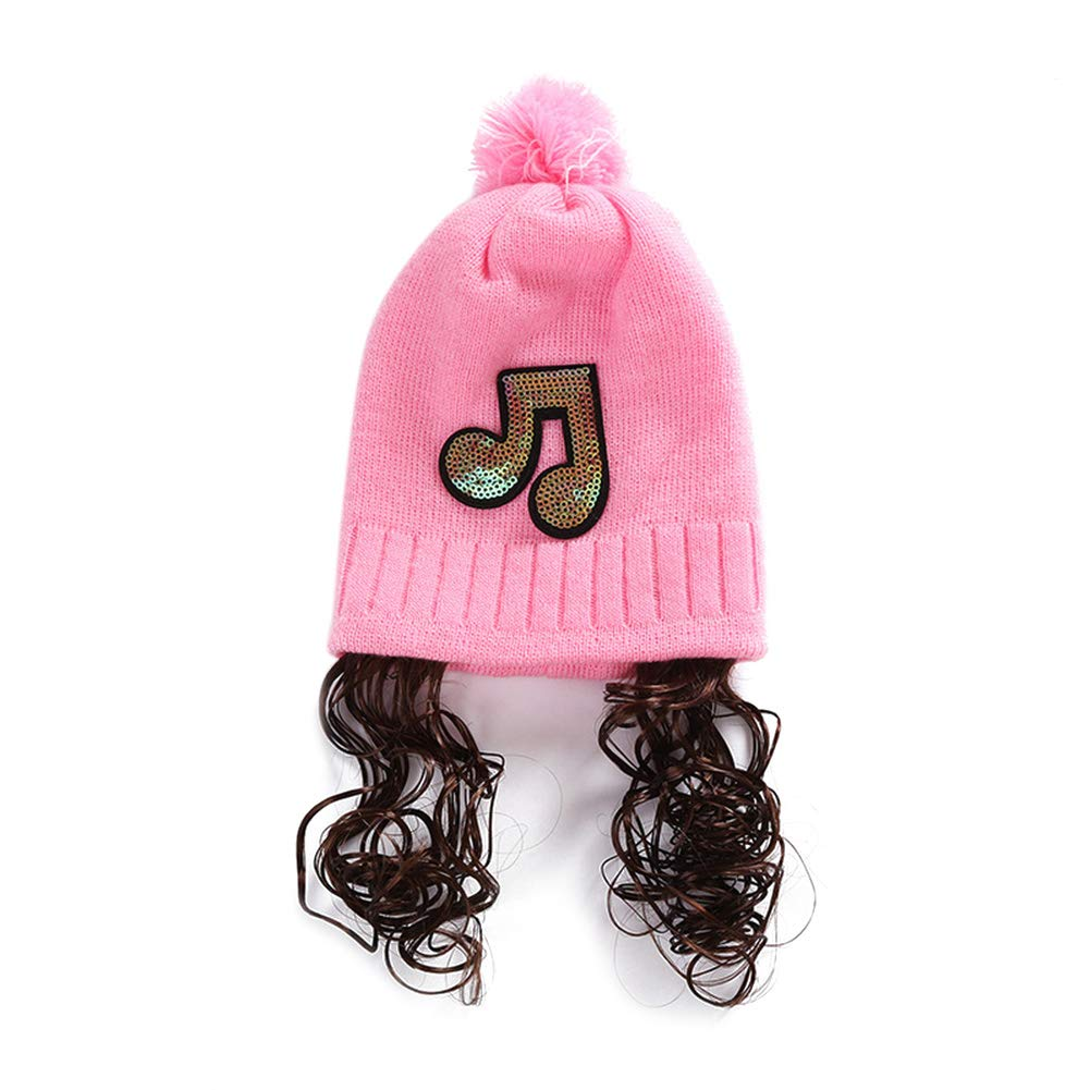 Lingstar Baby Hat Girl Cap Wig Unique Warm Caps Fashion Sequins Knitted Hats Outdoor Headgear Autumn Winter