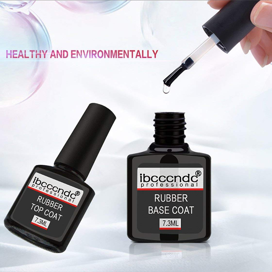 7 3 Ml Professional Rubber Base Coat Gummi Top Coat Soak Off Gel