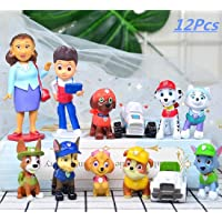 12 Pcs Paw Dogs Patrol Cake Topper Decorations Children Mini Toys Cupcake Toppers for Birthday Party Supplies