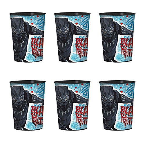 Black Panther Birthday Party Plastic Cups 6 pack