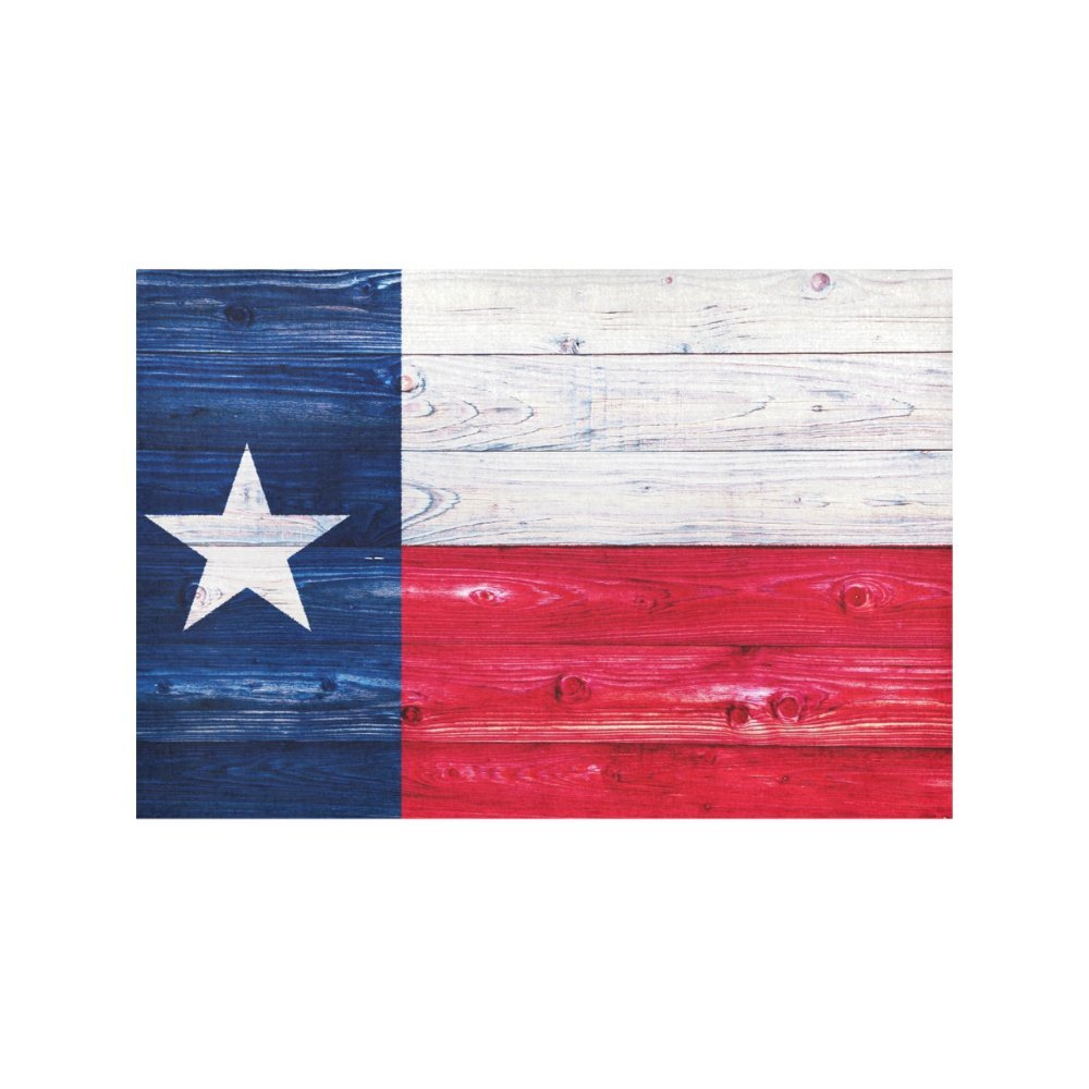 InterestPrint American State Flag Wood Texas Flag Washable Fabric Placemats Set of 6 Heat Insulation Dining Table Mats Non-slip Washable Place Mats, 12 x 18 Inches by InterestPrint (Image #4)