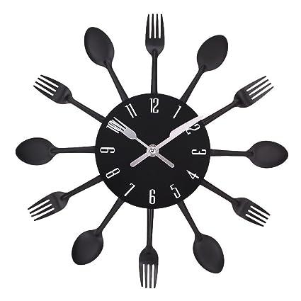 Esansong - Reloj grande sin marco para pared, con diseño único