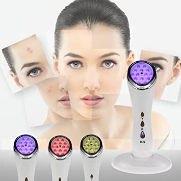Hand held facial light therapy