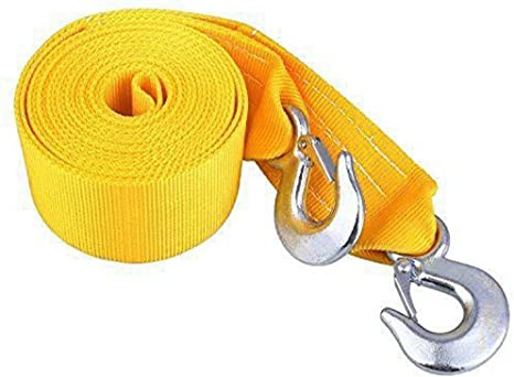 4m 5 Tons Heavy Duty Tow Rope Towing Pull Vehicle Strap Car Truck