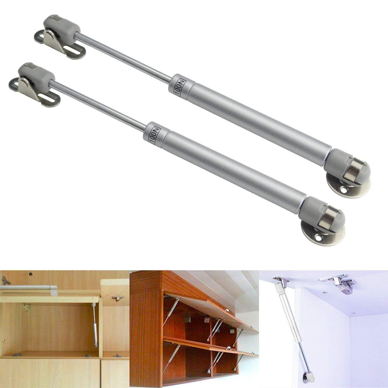 120N-4pcs 4 Piezas Pistones a Gas Muebles Cocina Amortiguador Puertas Elevables 270mm Bisagras Resortes Armario con Tornillos