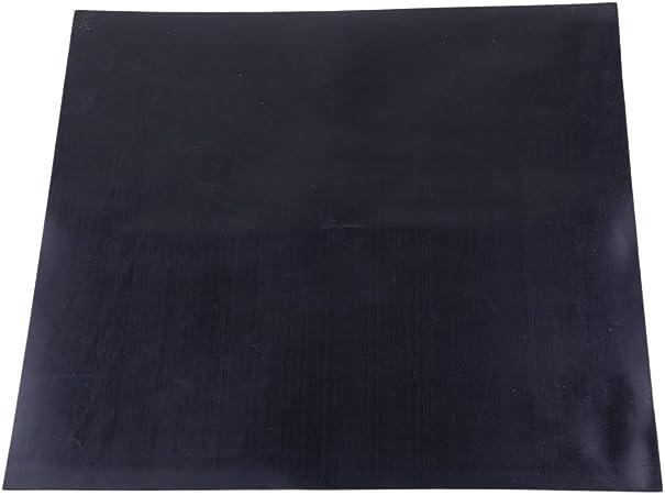 12 X 12 Pouces Par 0.04in /éPaisseur Feuille en Caoutchouc Industrielle Haute Temp/éRature Plaque Mat Noir