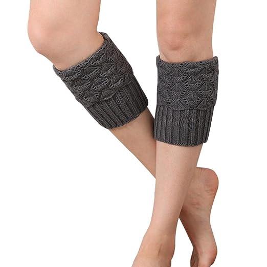 c1c2077bcbc TAORE Women Winter Crochet Boot Cuffs Shell Knit Topper Cuff Boot Socks Leg  Warmers (Dark
