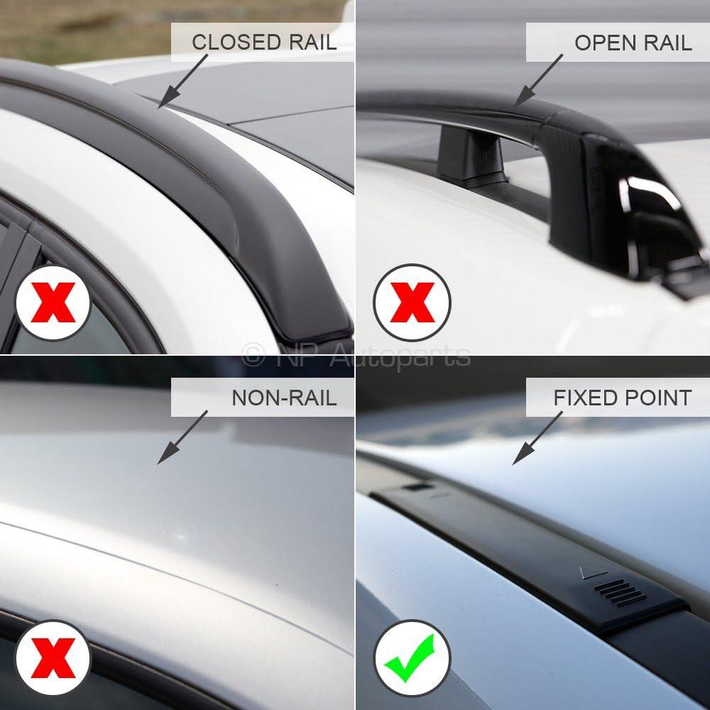 Fixed Point Roof Farad Compact Pro FA-COMP-BLK-236a Aluminium Black Wing Roof Bar Set