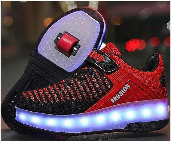 FZ FUTURE Automatiques R/étractables Patins /à roulettes Patins Roue r/étractable Sports Plein air Cross Formateurs Baskets Gymnastique Enfants LED Chaussures /à roulettes
