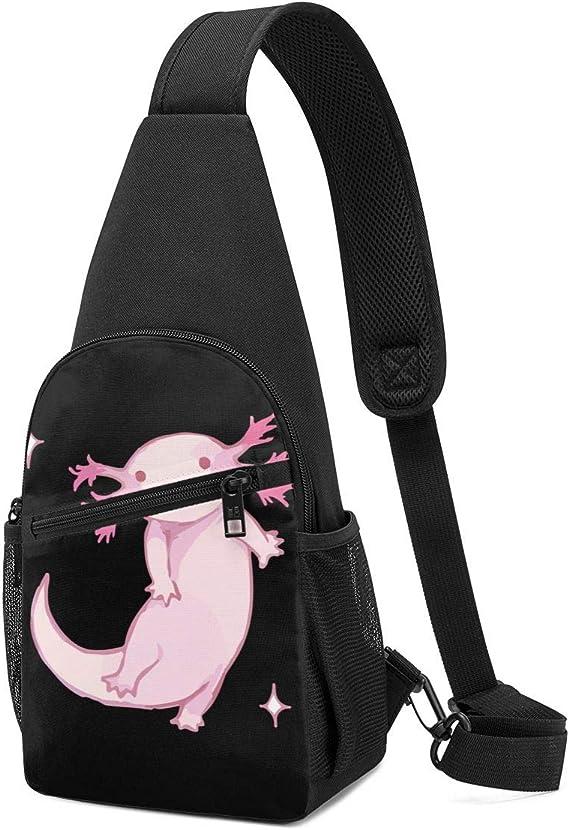 DEKIFNHG Watercolor Painted Handmade Elements Sling Backpack Hiking Daypack Crossbody Shoulder Bag