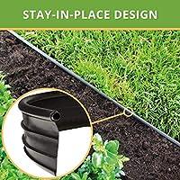 Flexible Borde de Jardín - Bordillo Escondido Plastico, Longitud 12 m - Instalación Simple, Flexibilidad Máxima - Fabricado del reciclado PE - Color Negro UV estable, Borduras Jardín Rollo: Amazon.es: Jardín