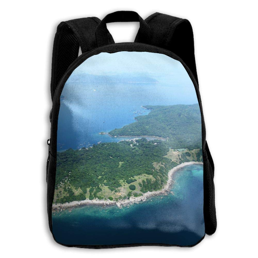 YEWEI Island 男女兼用 3Dプリント ワイドジッパー 学校 旅行バッグ ショルダーバッグ 子供用バックパック   B07GDDLRQG