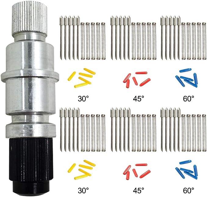 AFUNTA compatible CB09 CB09U Graphtec Blade Holder Base con 30pcs (30/45/60 grados) Cortador de vinilo Plotter Cuchillas de corte Silhouette Cameo: Amazon.es: Oficina y papelería