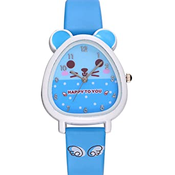 Kids Watch Fashion Cute Cartoon Unicorn Leather Strap Wristwatch Classic Digital Girl Boy Watch Child Quartz Watch Matching In Colour Children's Watches