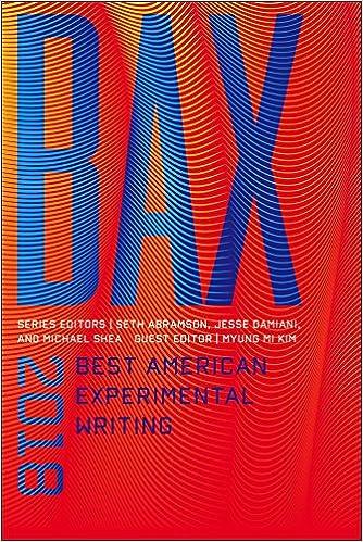 best american experimental writing 2019