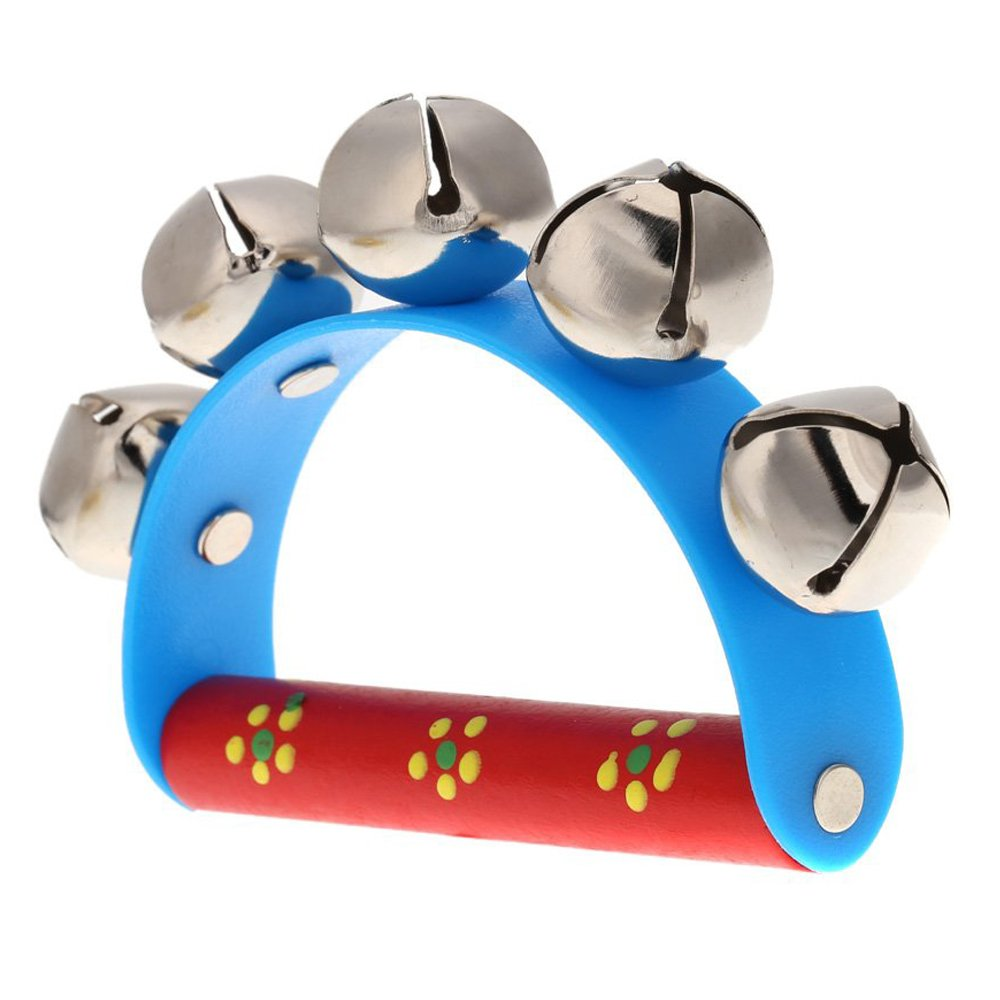 SODIAL(R)Musical Toy for KTV Kids Little Hand Held Tambourine Bell Metal Jingles Ball 050939