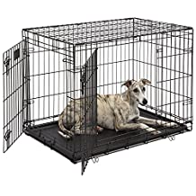 Midwest Life Stages Double-Door Folding Metal Dog Crate, 36-Inch by 24-Inch by 27-Inch