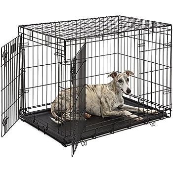 Amazon Amazonbasics Double Door Folding Metal Dog Crate 36