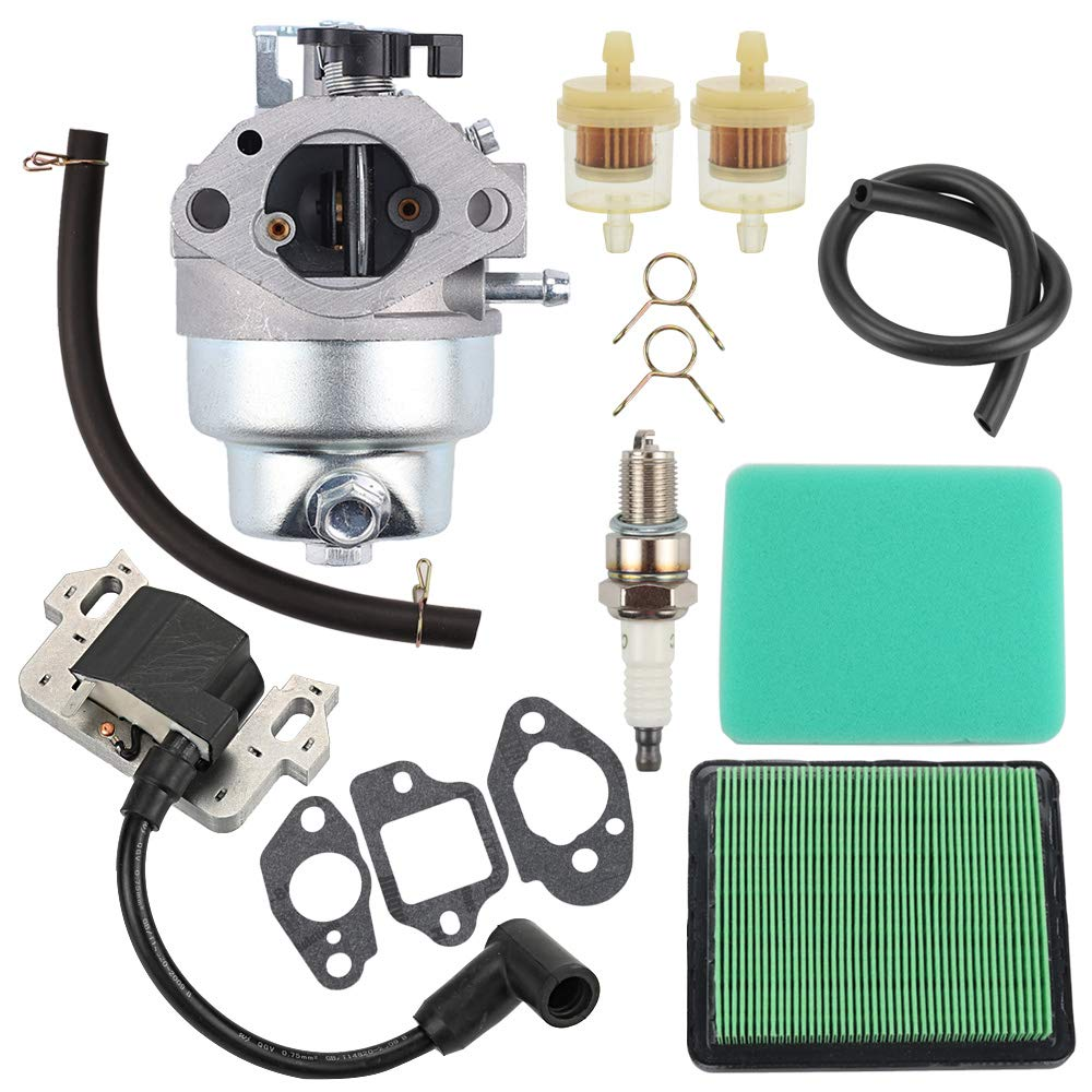 Venseri GCV160 Carburetor with Air Filter Ignition Coil for Honda GCV160 Replaces HRB216 HRR216 HRS216 HRT216 HRZ216 carb