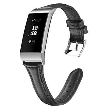 Amazon com : Lovewe Fitbit Charge 3 Band, Luxury Leather