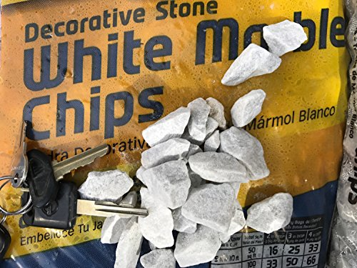 Decorative Marble Chips White 2 LBS (Decorative Cover Soil)