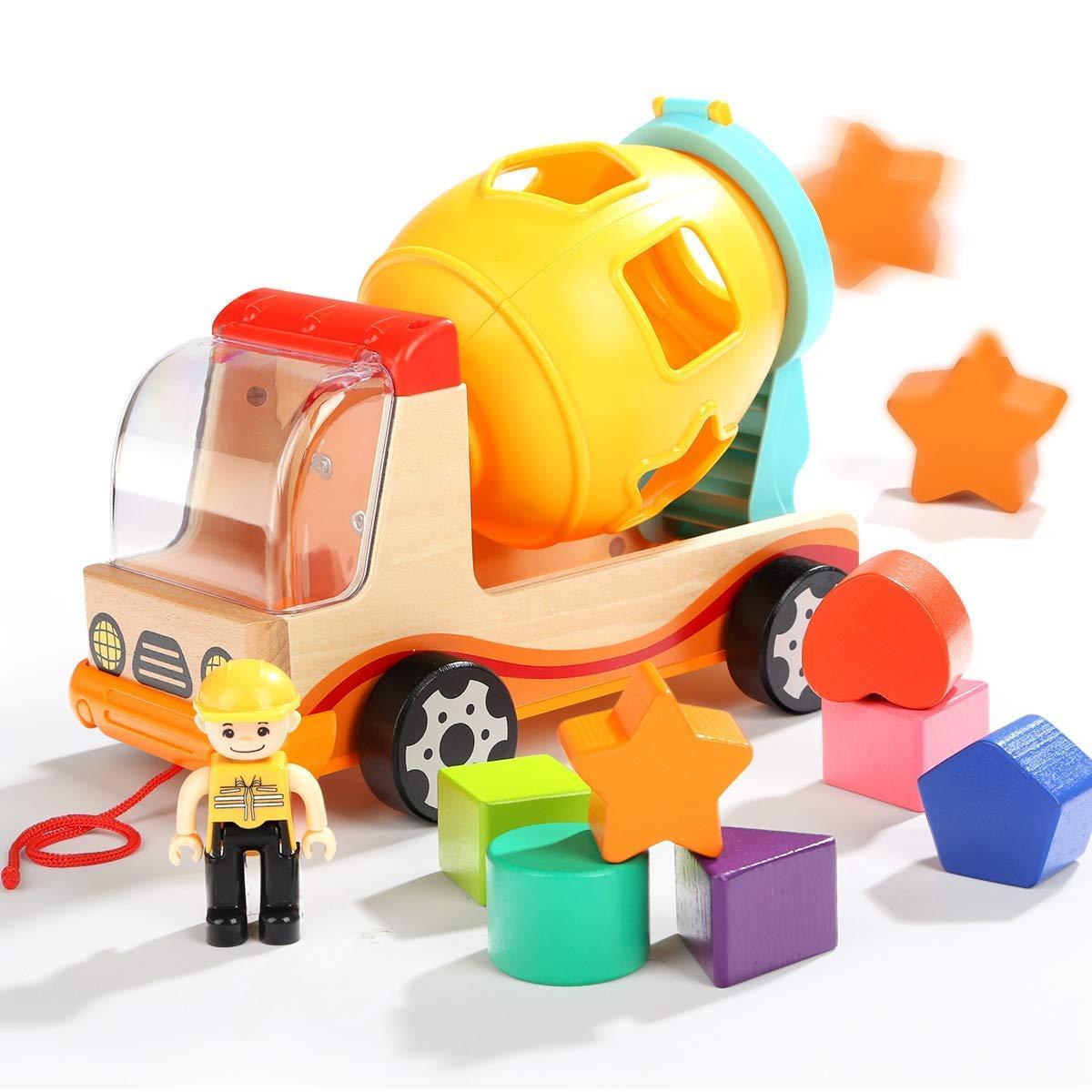 Betonmischer Spielzeug Betonmischfahrzeug für Jungen Mädchen Truck LKW zum Geburtstag und Weihnachten für Kinder TOP BRIGHT