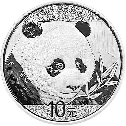 2018 CN Chinese Panda 30 Gram Silver Coin Yuan Uncircualted Mint