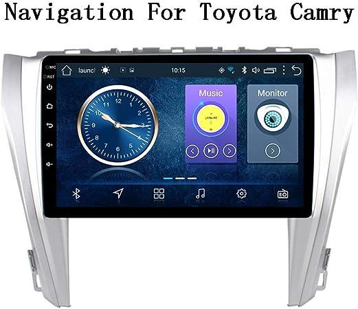 XBRMMM Radio Coche con Navegación GPS Android 8.1, TV Estéreo con Pantalla Táctil HD 9