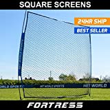 FORTRESS Portable Square Screen – Ultimate Baseball Protector Screen – [Net World Sports]