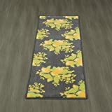 Ottomanson Lemon Collection Contemporary Grey Lemons Design Runner Rug with (Non-Slip) Kitchen and Bathroom Rugs, Grey, 20'' X 59''