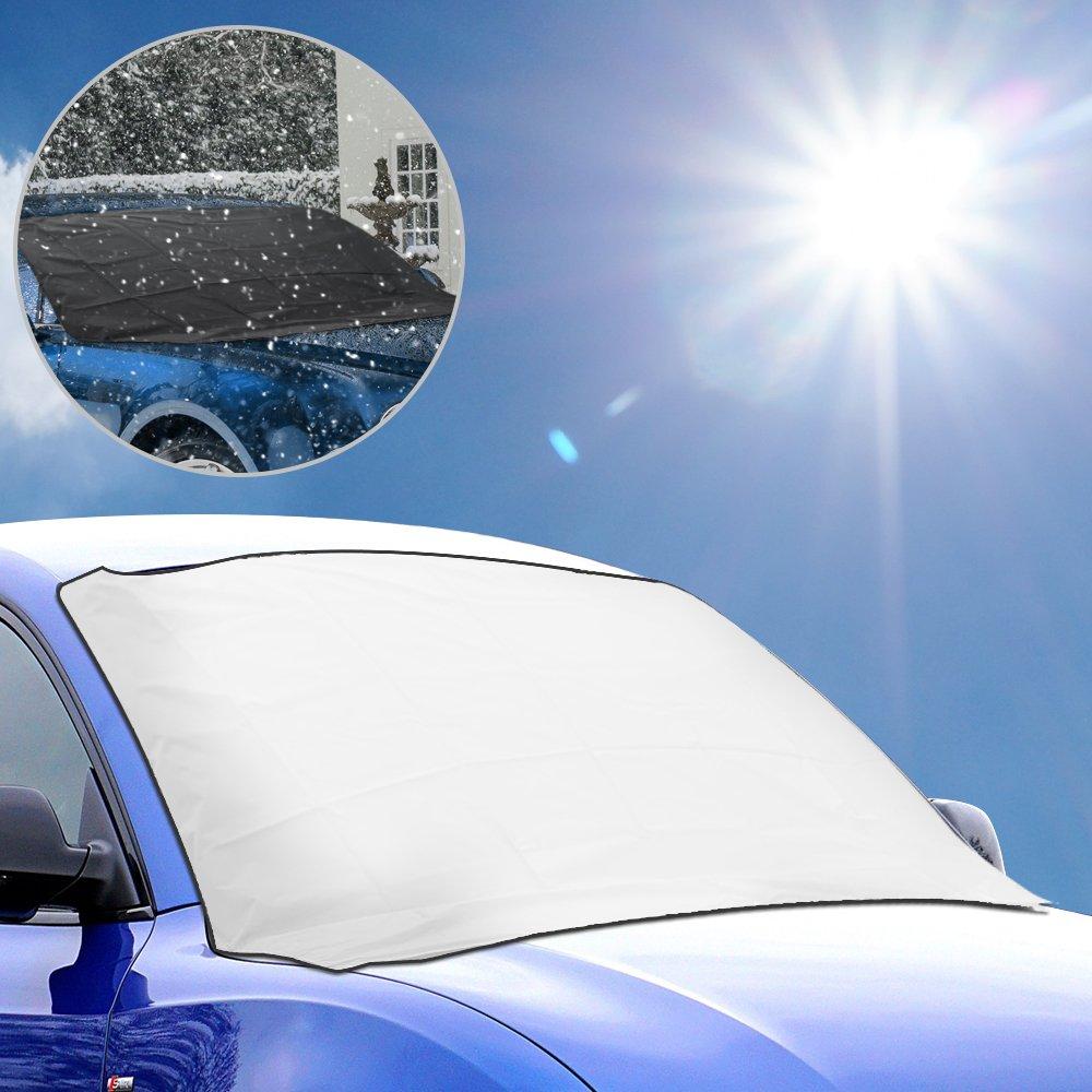 Couverture Pare-brise Voiture, Oziral Universelle pour Voiture Pare-soleil Protection UV Couvre Magné tique pour Pare-brise de Voiture contre le Gel la Neige oz5211