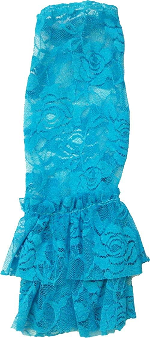 Wenchoice Girl'S Turquoise Lace Leg Warmers Free Size