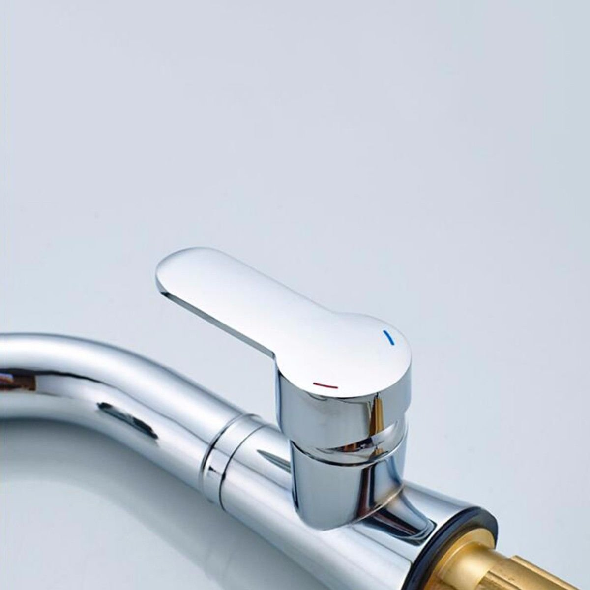 B Hlluya Professional Sink Mixer Tap Kitchen Faucet The copper basin faucet to draw-down-water washing your face basin, B