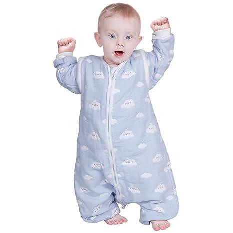 lictin – Saco de dormir para bebé con mangas extraíbles para bebé Niños 1 – 3