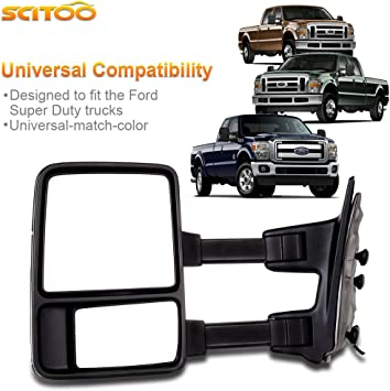 Value LEFT POWER MIRROR WITH HEATED FOR 2003-07 FORD F-250 SUPER DUTY OE Quality Replacement