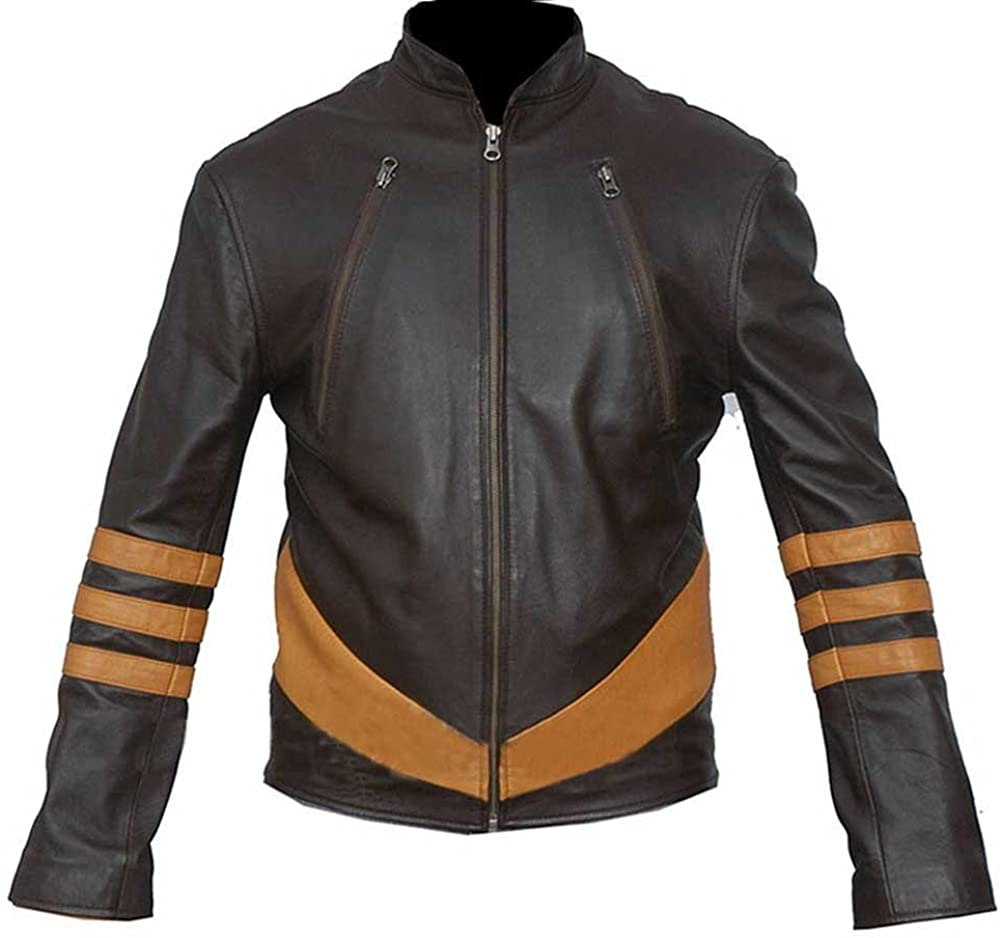 Hugh Jackman X-Men 3 Stylish The Wolverine Logan Real Leather Jacket