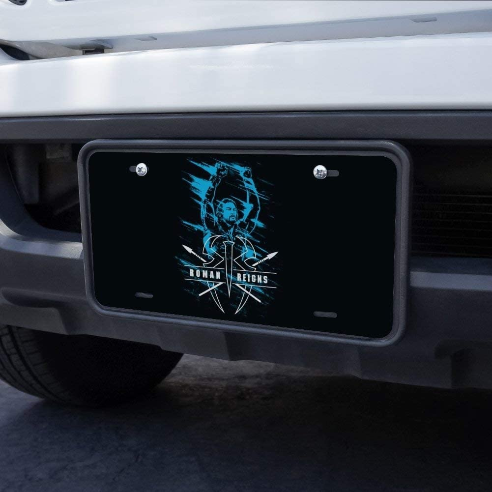 Graphics and More WWE Roman Reigns Smeared Novelty Metal Vanity Tag License Plate