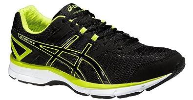 reputable site 1fe67 611bf ASICS Mens Mens Gel Galaxy 8 Running Shoes in Black Green - UK 9