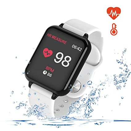 UWINMO Smart Watch for Android and iOS Phones with Heart Rate & Blood Pressure Monitor, Sleep Monitort, Information Reminder & Step Counter Waterproof ...