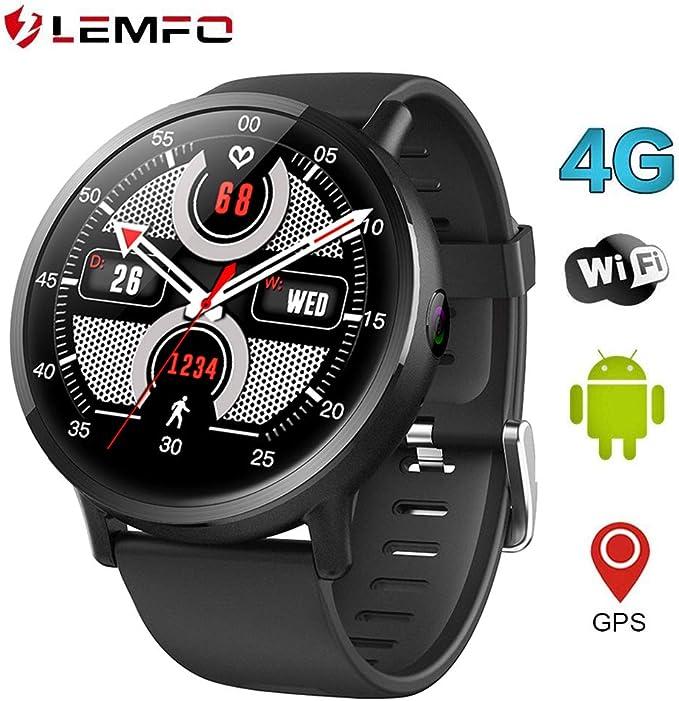 LEMFO LEMX Reloj Inteligente Teléfono 4G LTE - Pantalla Android ...