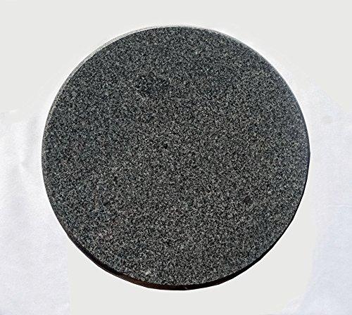 MW Naturstein Redonda Barbacoa Bola de Piedra de Granito para el Barbacoa - 28 cm diámetro de 3 cm de Grosor: Amazon.es: Jardín