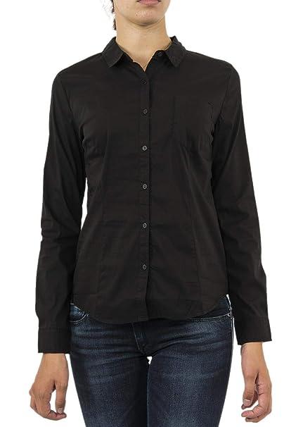 e36c78d47b56 Kaporal Jeans - Camisa Mujer Manga Larga Color Negra Twerk: Amazon.es: Ropa  y accesorios