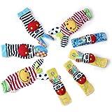 Edealing 2SET Lumineux bébé infantile enfants Lamaze souple poignet chaussettes pieds Rattle Mains Pieds finder jouets