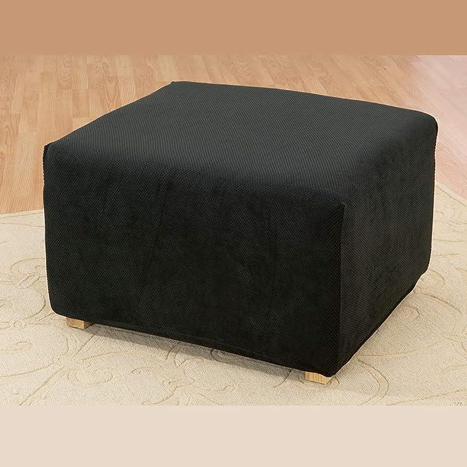 Amazon.com: Sure Fit Stretch Pique Otomano Slipcover ...