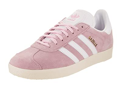 white and pink adidas gazelle