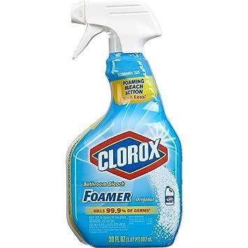 Amazoncom Clorox Bathroom Foamer With Bleach Spray Bottle
