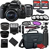 Canon EOS Rebel T6i DSLR Camera Bundle with Canon EF-S 18-55mm f/3.5-5.6 IS STM Lens + 2pc Sandisk 32gb Memory + Canon Camera Bag + Value Accessory Kit