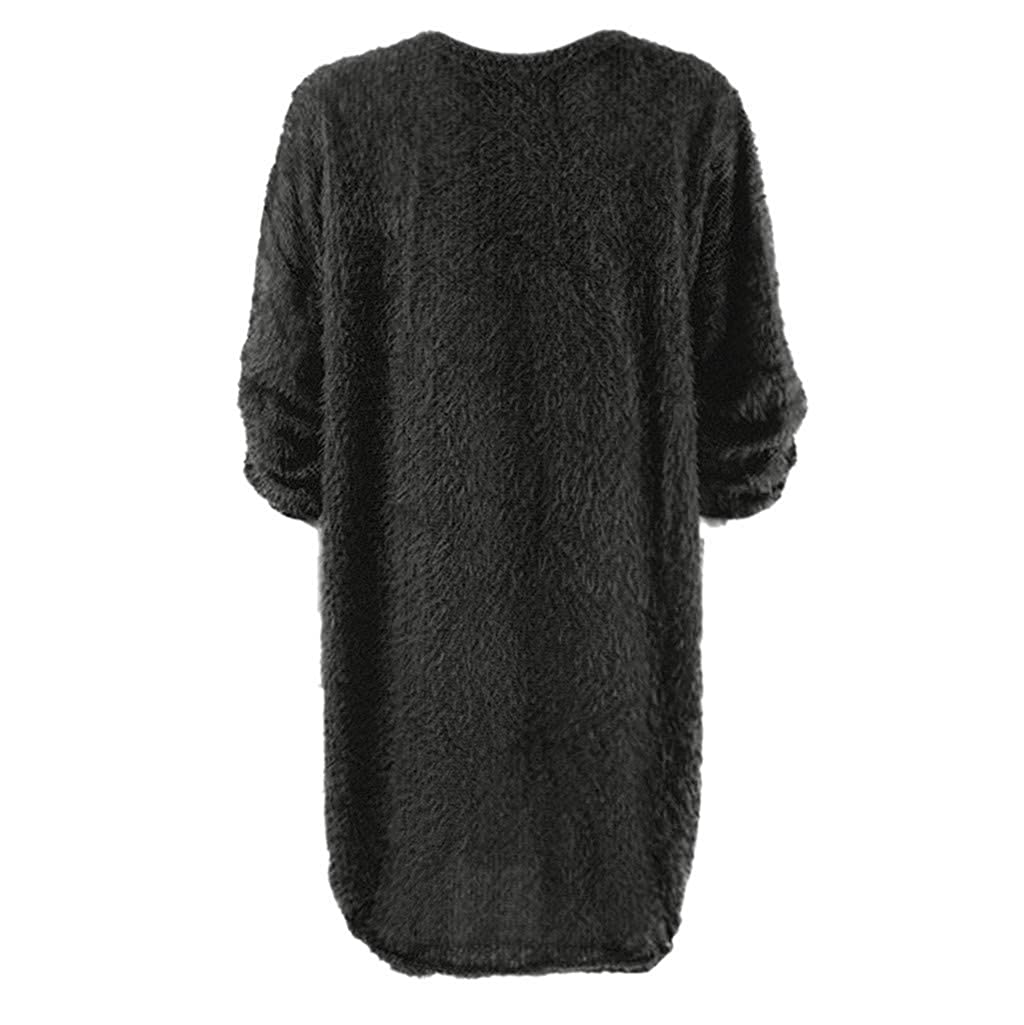 2DXuixsh Womens Casual Sweater Pullover Autumn Winter Long Sleeves Elegant Knitted Warm Sweaters Pencil Dress