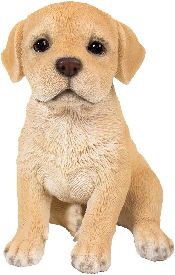 Pacific Giftware Adorable Seated Yellow Labrador Puppy Collectible Figurine Amazing Dog Likeness Hand Painted Resin 6.5 inch Figurine Great for Dog Lovers Tabletop Decor