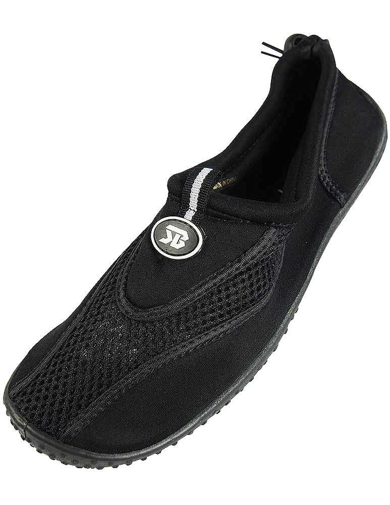The Wave Womens Water Shoes Aqua Socks Pool Beach,Yoga,Dance and Exercise (9, Black 2907)